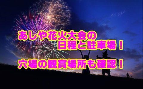 あしや花火大会2019日程・アクセス・駐車場と穴場の観賞場所を確認!【福岡】