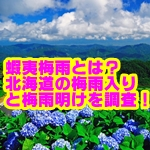 北海道の蝦夷梅雨の時期はいつ?梅雨入り・明けがない理由を調査!