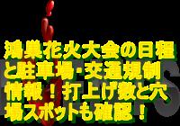 鴻巣花火大会2019の日程と駐車場・交通規制情報!打上げ数と穴場スポットも確認!