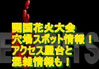 開国花火大会2019穴場スポット情報!アクセス・屋台と混雑情報も!