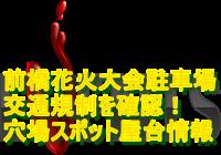 前橋花火大会2020駐車場・交通規制を確認!穴場スポット・屋台情報も!